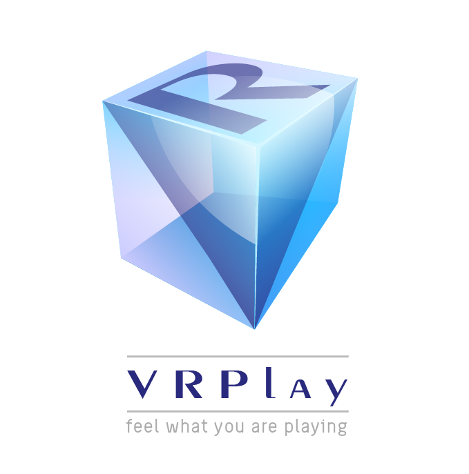 vr play new 3d cube logo for game makers ux ui