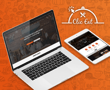 Click-eat Restaurents reservation – Mobile app UX UI + BO + Website